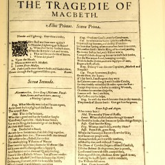 The text of Macbeth